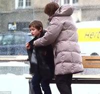 Boy with coat