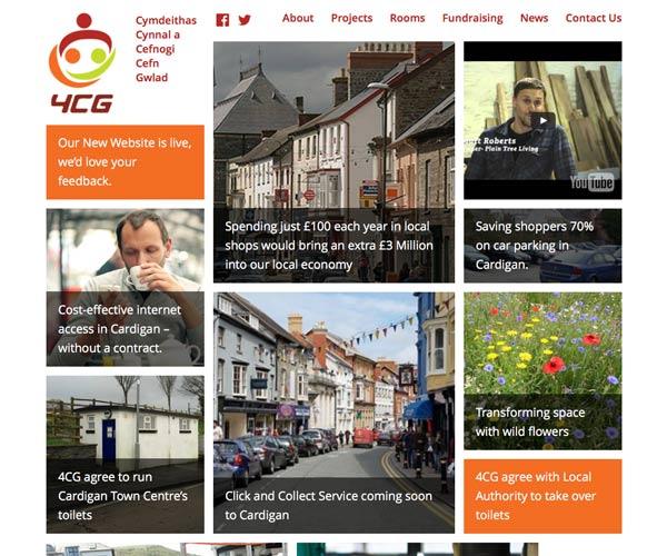 Content-focussed website for 4CG